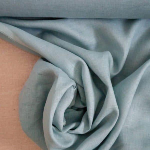 בד פשתן טבעי בצבע טורקיז