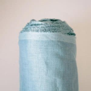 בד פשתן לרקמה,בגדים, בצבע טורקיז, מחיר לפי 1 מטר