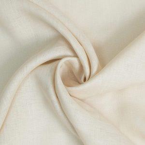 בד פשתן טבעי לרקמה, לבגדים בצבע בז', מחיר לפי 1 מטר